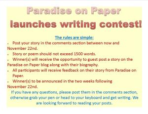 Paradise on Paper Writing Contest